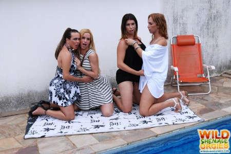 hot tranny porn party by the pool